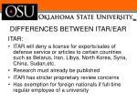 differences between itar ear1