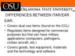 differences between itar ear2