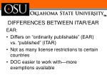 differences between itar ear3