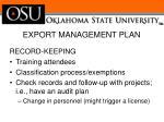 export management plan2