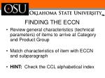 finding the eccn