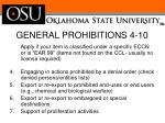 general prohibitions 4 10