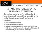 itar and the fundamental research exemption