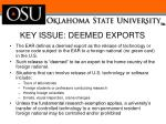 key issue deemed exports