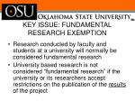 key issue fundamental research exemption