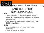 sanctions for noncompliance1