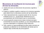 mecanismos de movilizaci n de recursos para afrontar las demandas