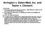 arrington v galen med inc and taylor v clement