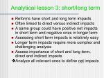analytical lesson 3 short long term