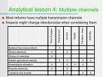 analytical lesson 4 multiple channels