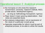 operational lesson 3 analytical process