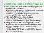 operational lesson 4 policy dialogue