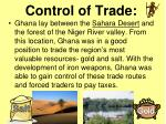 control of trade
