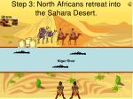 step 3 north africans retreat into the sahara desert