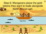 step 6 wangarans place the gold tokens they want to trade alongside north african salt