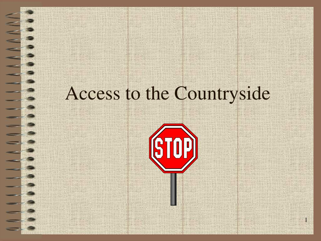 access to the countryside l.