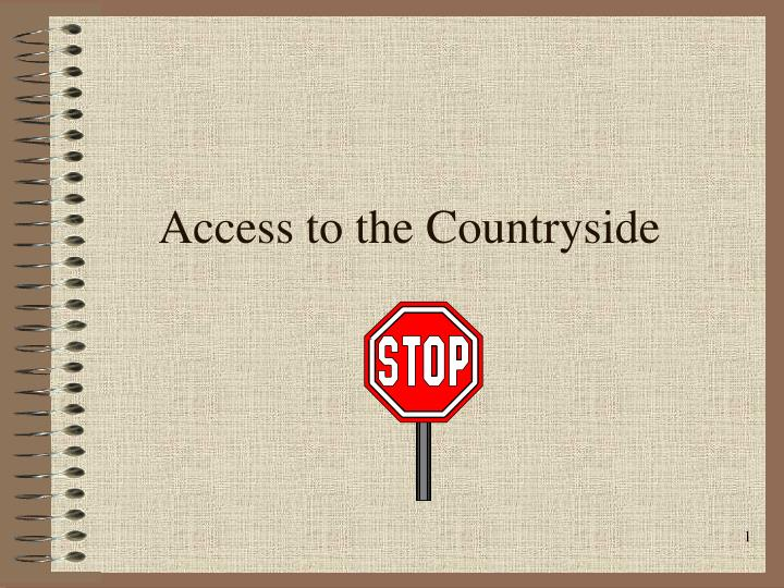 access to the countryside n.