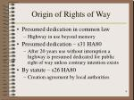 origin of rights of way