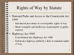 rights of way by statute