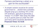 farmers and farming a drain or a gain for the countryside6