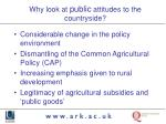 why look at public attitudes to the countryside