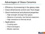 advantages of glass ceramics