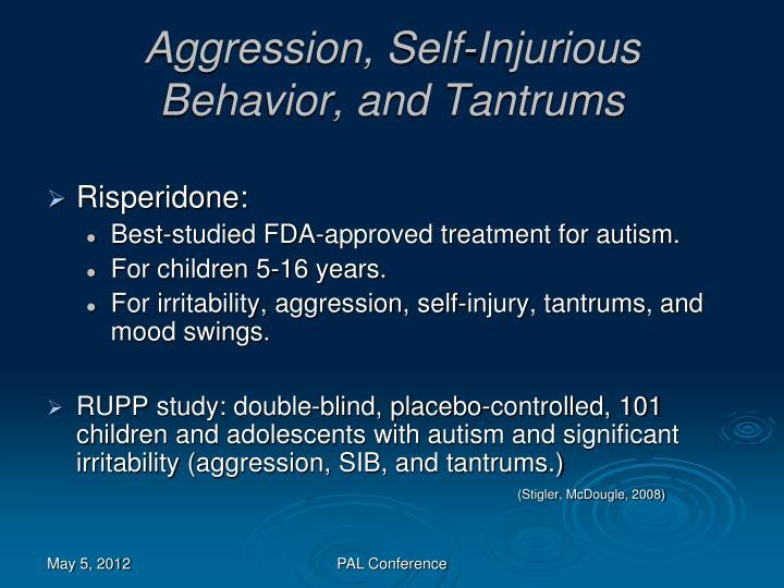 Aggression, Self-Injurious Behavior, and Tantrums