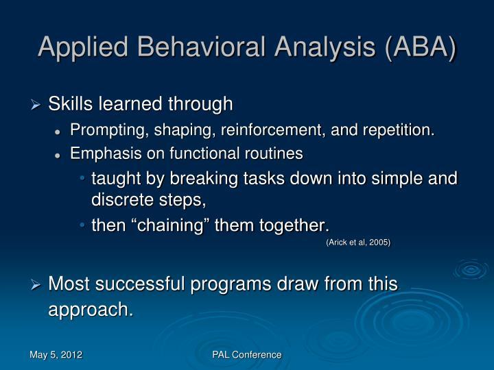 Applied Behavioral Analysis (ABA)
