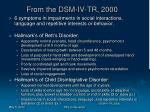 from the dsm iv tr 2000