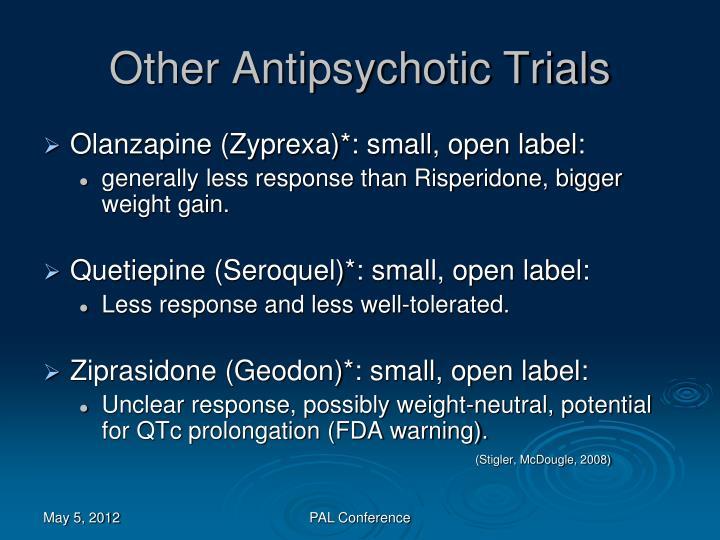 Other Antipsychotic Trials