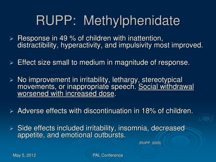 RUPP:  Methylphenidate