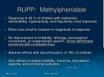 rupp methylphenidate