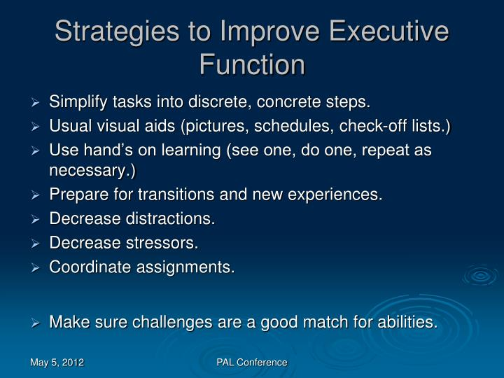 Strategies to Improve Executive Function