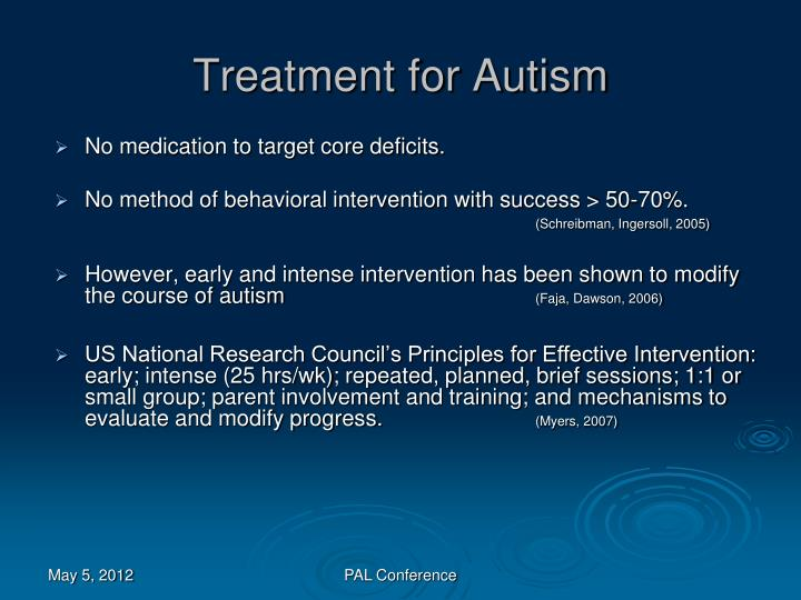Treatment for Autism