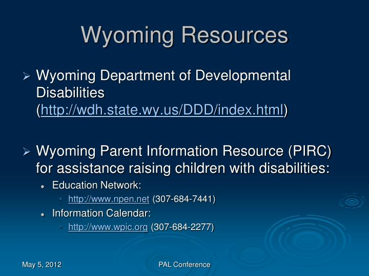 Wyoming Resources