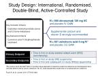 study design international randomised double blind active controlled study