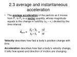 2 3 average and instantaneous acceleration