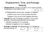 displacement time and average velocity