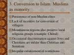 3 conversion to islam muslims as minority