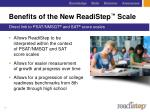 benefits of the new readistep scale