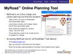 myroad online planning tool