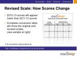 revised scale how scores change