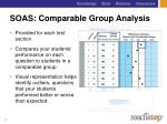soas comparable group analysis