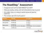 the readistep assessment