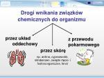 drogi wnikania zwi zk w chemicznych do organizmu