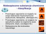 niebezpieczne substancje chemiczne klasyfikacja