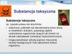 substancj a toksyczna