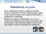 substancje niezgodne