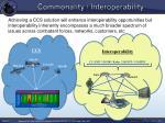commonality interoperability