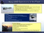 navy uas operations in the fleet